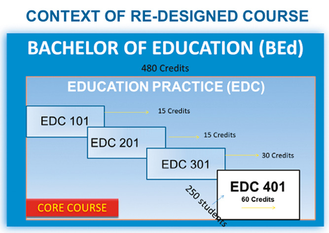 The re-design of a fourth year Bachelor of Education